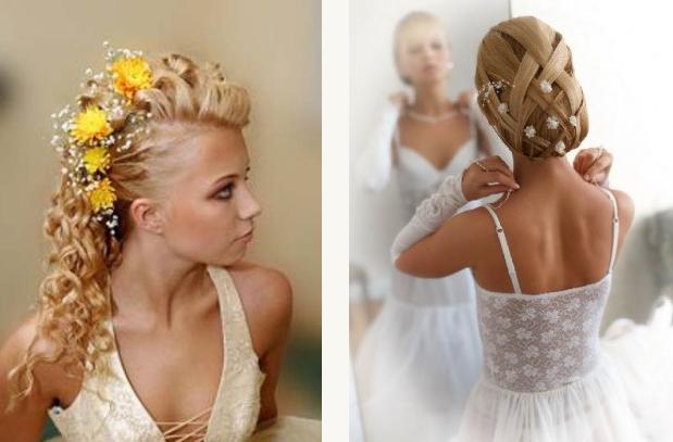 свадебные прически с шиньоном накладные пряди