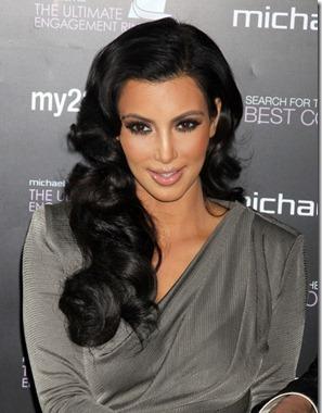 Kim Kardashian retro hairsle 40s