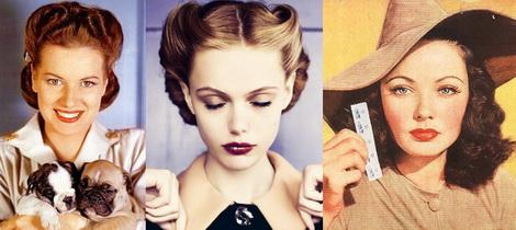 Прически и макияж 40-х годов