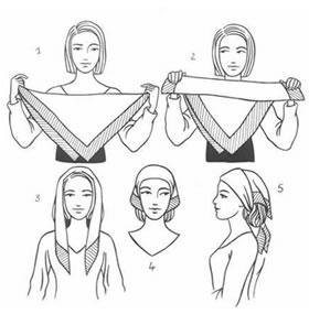 Как завязать платок на голову