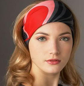Завязывание платка на голову по типу