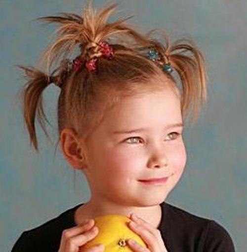 Прически для маленьких девочек хвостики фото