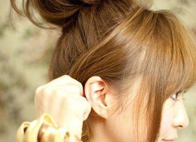 Небрежный пучок из волос 5