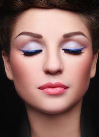 Cиреневые тени для голубых глаз