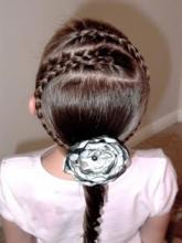 Двойная французская коса для девочки