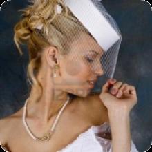 Шляпка для свадебной прически