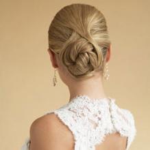 """Свадебная причёска невесты """"Подвенечный жгут"""""""