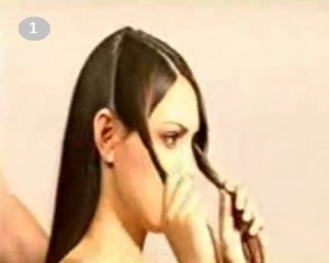 Вечерняя прическа из кос с шиньоном